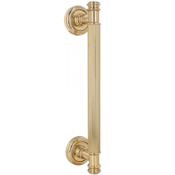 Дверная ручка скоба Extreza Benito S (Бенито) R01 полированная латунь F01