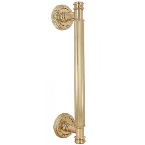 Дверная ручка скоба Extreza Benito S (Бенито) R06 полированная латунь F01