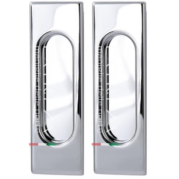 Дверная ручка купе Extreza Hi-tech «P401» полированный хром F04